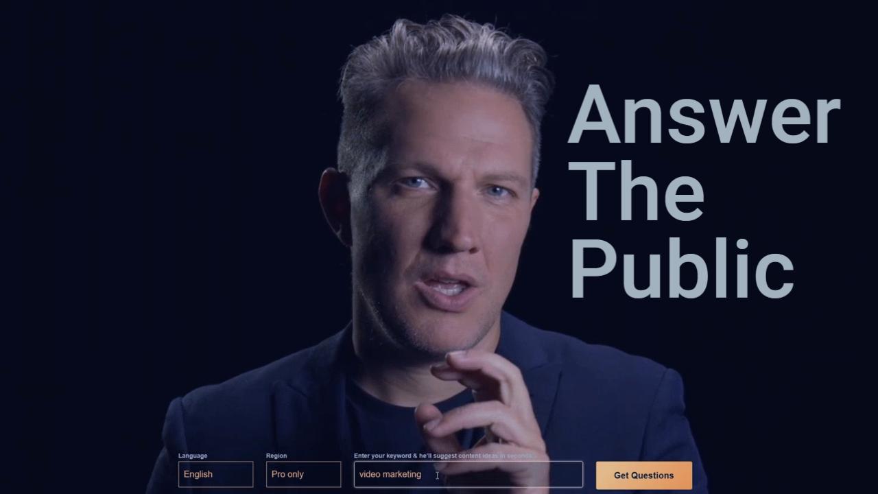 AnswerThePublic – Where is video marketing